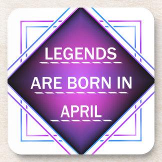 Porta-copos As legendas são nascidas em abril