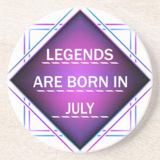 Porta-copos As legendas são nascidas em julho