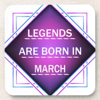 Porta Copos As legendas são nascidas em março