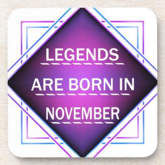 Porta Copos As legendas são nascidas em novembro