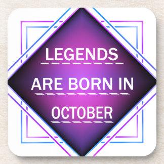 Porta-copos As legendas são nascidas em outubro