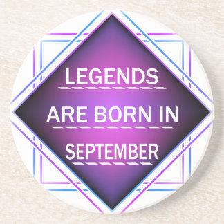 Porta-copos As legendas são nascidas em setembro