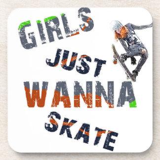 Porta-copos As meninas apenas querem patinar