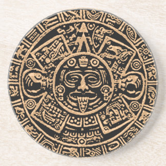 Porta copos asteca do arenito do calendário