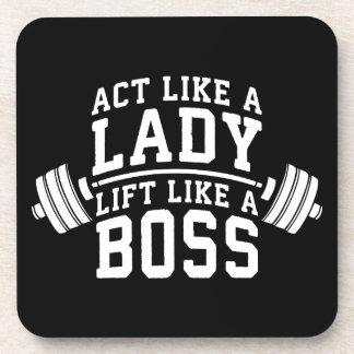 Porta Copos Ato como uma senhora, elevador como um chefe, a