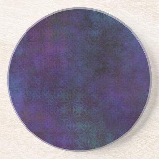 Porta-copos Azul & abstrato do roxo, arte suja de Digitas