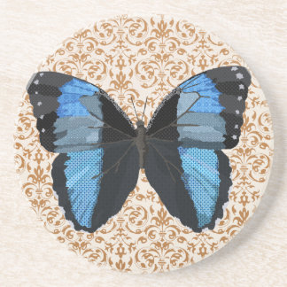 Porta copos azul da arte da borboleta de Boho