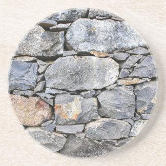 Porta-copos Backgound de pedras naturais como a parede