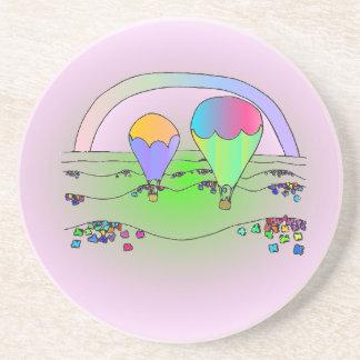 Porta-copos Balões de ar quente do arco-íris