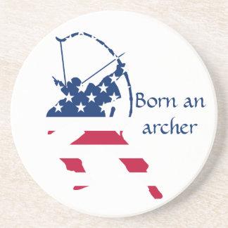 Porta-copos Bandeira americana do arqueiro do tiro ao arco dos