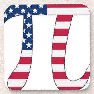 Porta-copos Bandeira americana do dia do Pi, símbolo do pi