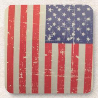 Porta-copos Bandeira americana resistida, afligida dos EUA