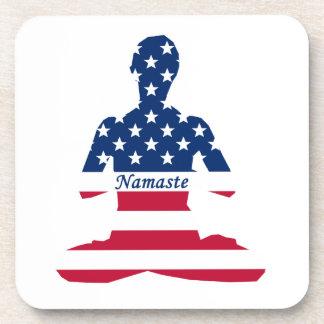 Porta-copos Bandeira da ioga do americano da meditação dos EUA