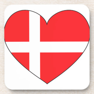 Porta-copos Bandeira de Dinamarca simples
