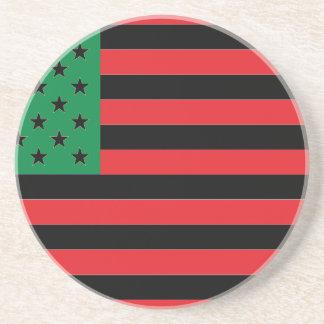 Porta-copos Bandeira do afro-americano - preto e verde