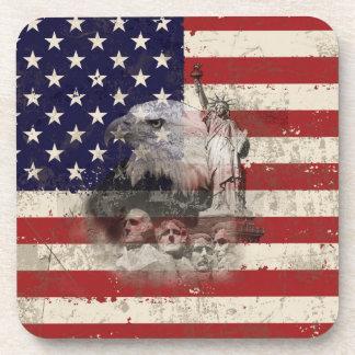 Porta-copos Bandeira e símbolos dos Estados Unidos ID155