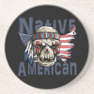 Porta-copos Bandeira indiana dos EUA do crânio do guerreiro do