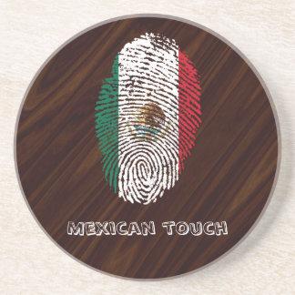 Porta-copos bandeira mexicana da impressão digital do toque