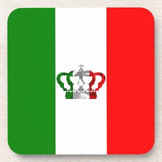 Porta-copos Bandeira moderna do italiano de Italia da coroa do