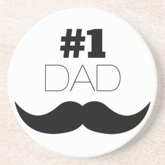 Porta-copos Bigode do preto do pai #1 - número um