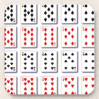 Porta Copos Bloco de cartões no branco
