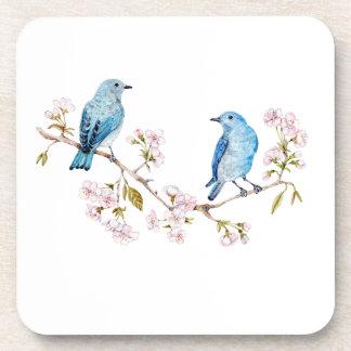 Porta Copos Bluebirds da montanha no ramo de Sakura