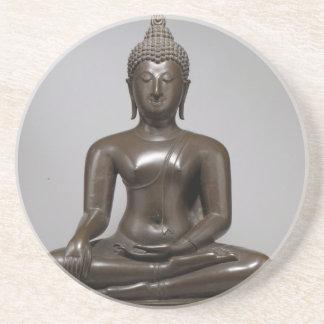 Porta-copos Buddha assentado - século XV