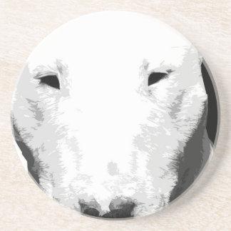 Porta-copos Bull terrier preto e branco