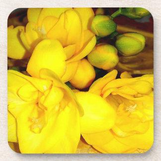 Porta Copos Buquê amarelo do Freesia