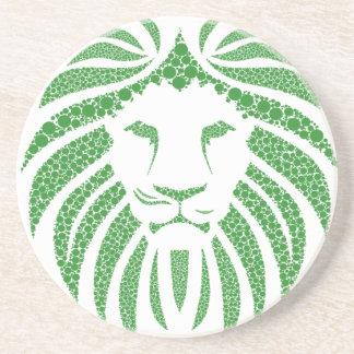 Porta-copos Cabeça verde do leão