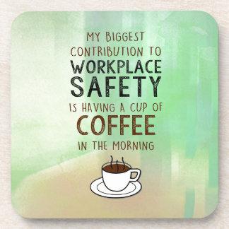 Porta-copos Café - contribuição para a segurança do local de