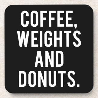 Porta Copos Café, pesos e rosquinhas - Gym engraçado da