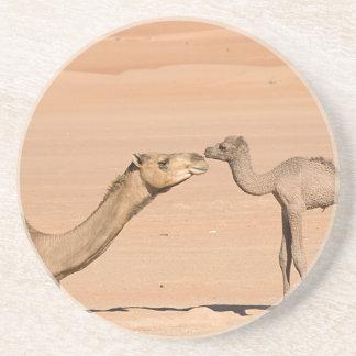 Porta-copos Camelo do bebê e sua mãe