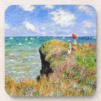 Porta Copos Caminhada de Clifftop em Pourville - Claude Monet