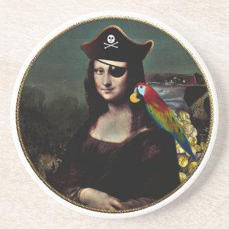 Porta-copos Capitão do pirata de Mona Lisa