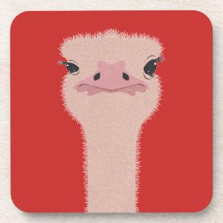 Porta-copos Cara engraçada da avestruz