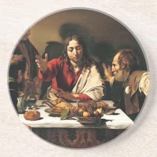 Porta-copos Caravaggio - ceia em Emmaus - pintura clássica