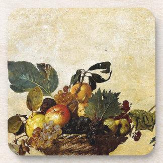 Porta Copos Caravaggio - cesta da fruta - trabalhos de arte