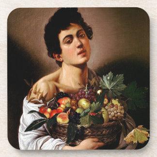 Porta Copos Caravaggio - menino com uma cesta de trabalhos de
