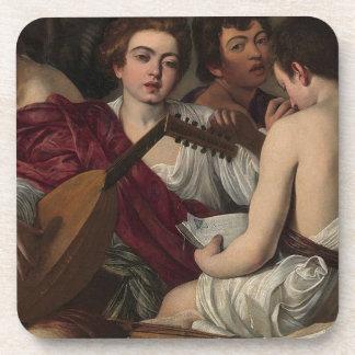 Porta Copos Caravaggio - músicos - trabalhos de arte clássicos