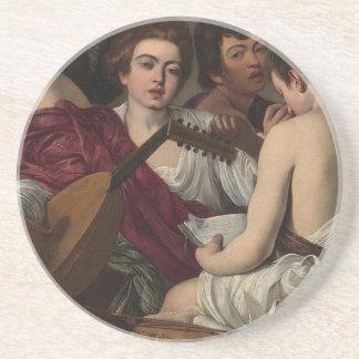 Porta-copos Caravaggio - músicos - trabalhos de arte clássicos