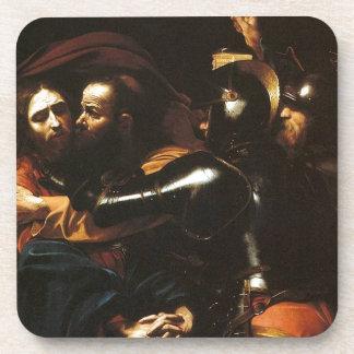 Porta Copos Caravaggio - tomada do cristo - trabalhos de arte