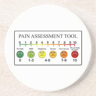 Porta-copos Carta médica da ferramenta da avaliação da dor