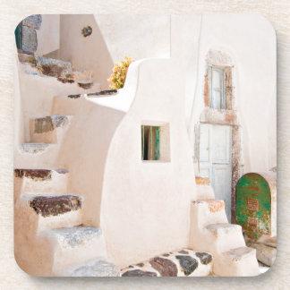 Porta-copos Casa em Santorini