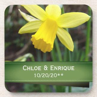 Porta Copos Casamento personalizado do foco Daffodil macio