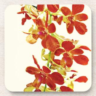 Porta Copos Cascata de orquídeas alaranjadas