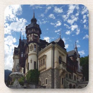 Porta-copos Castelo real famoso Peles em Sinaia, Romania.