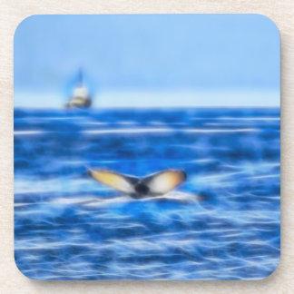 Porta-copos Cauda e navio da baleia no Fractal do horizonte no