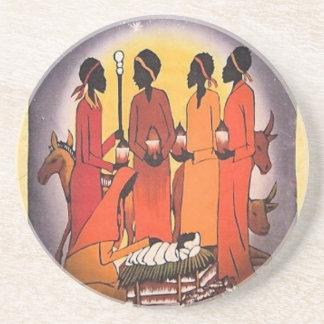 Porta-copos Cena africana da natividade do Natal