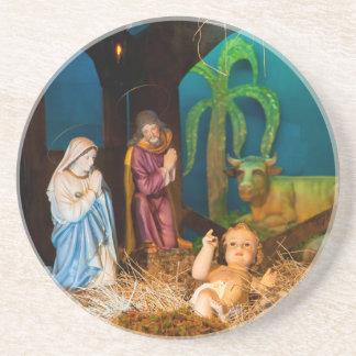 Porta-copos Cena da natividade